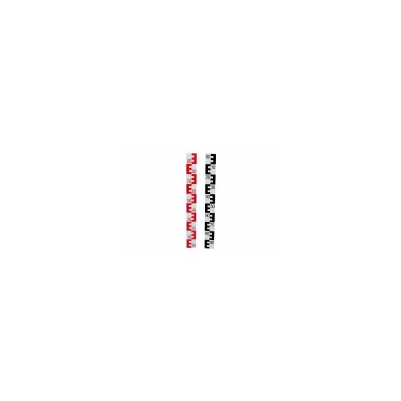 Mire d'eau (Echelle limnimérique) 1m 10cm 90-00 ROUGE