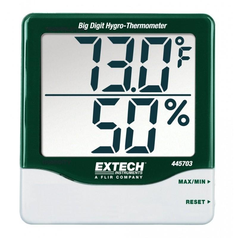 Thermomètre-Hygromètre à grands chiffres REF 445703 EXTECH