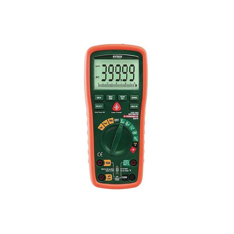 Multimètre industriel Extech EX570 + thermomètre infrarouge CAT IV