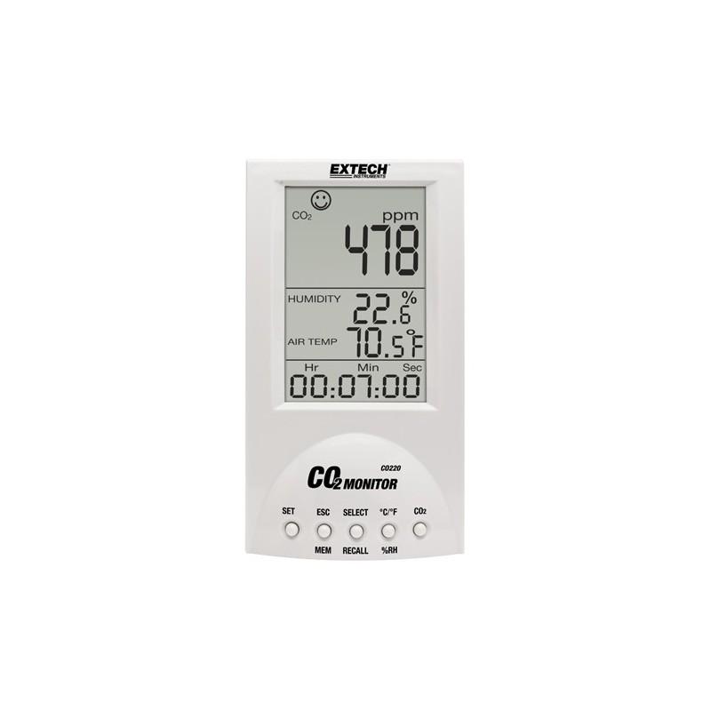 Moniteur de mesure qualité air + CO2 CO220