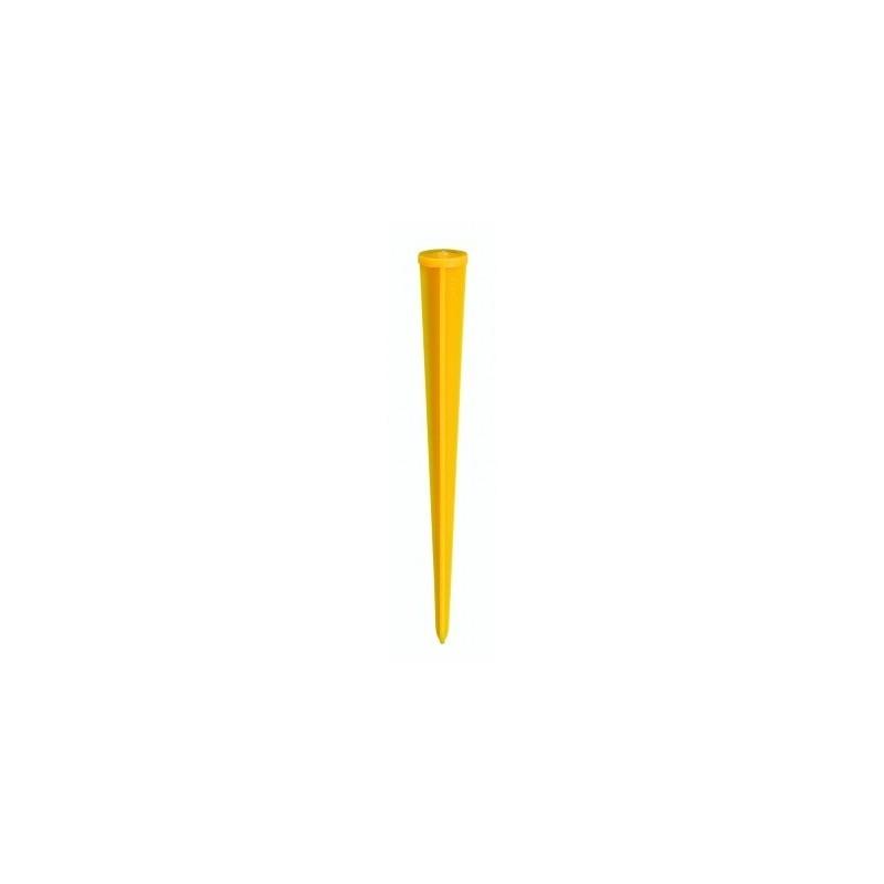 Piquet repère plastique 24 cm jaune FENO
