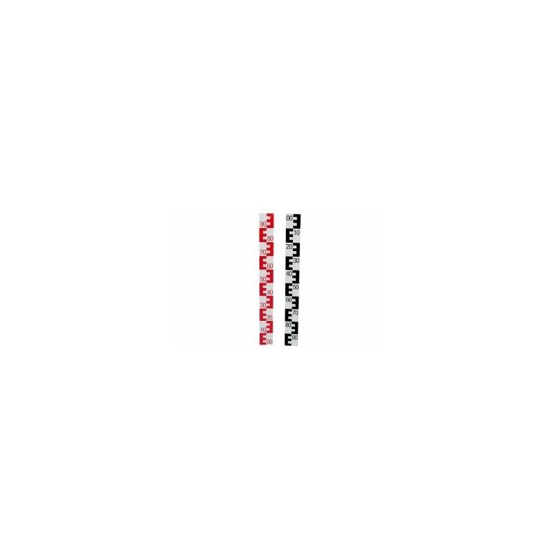 Mire d'eau (Echelle limnimérique) 1m 10cm 00-90 ROUGE