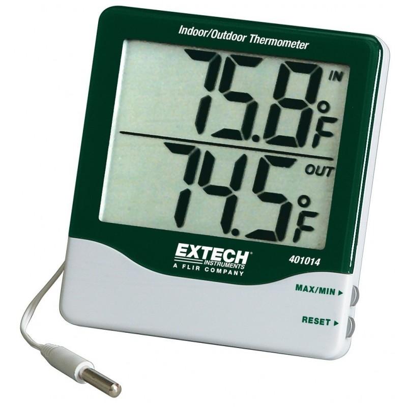 Thermomètre intérieur extérieur à grands chiffres REF 401014 EXTECH