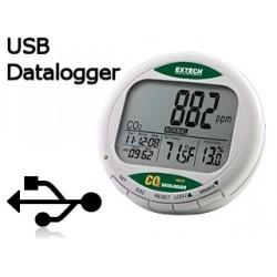 Appareil de mesure de la teneur en CO2 + DATALOGGER CO210