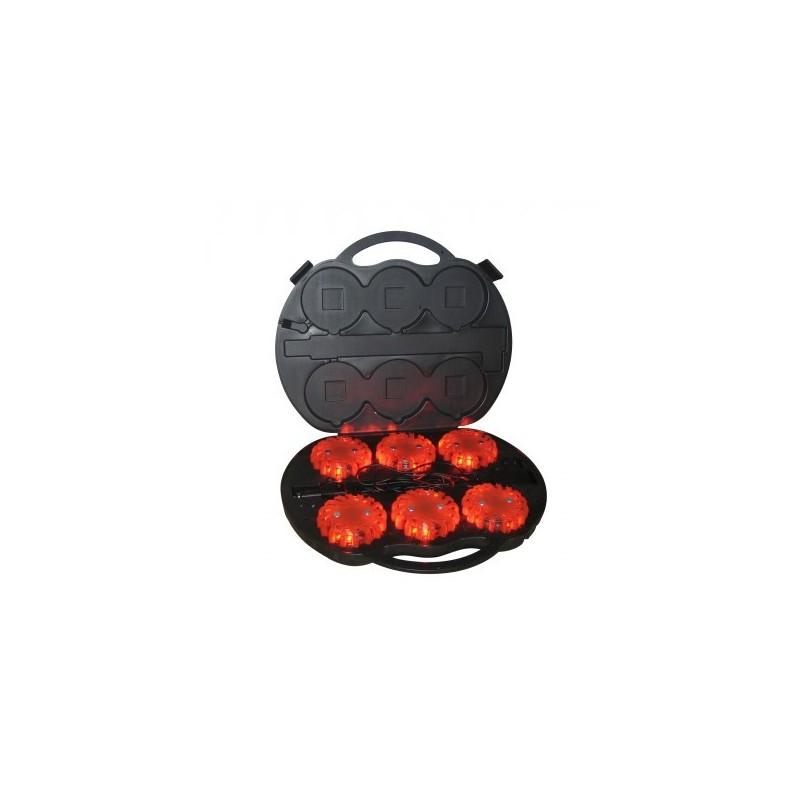 Warning LED 360° Nestle (orange) bat rechargeable BOX de 6 x