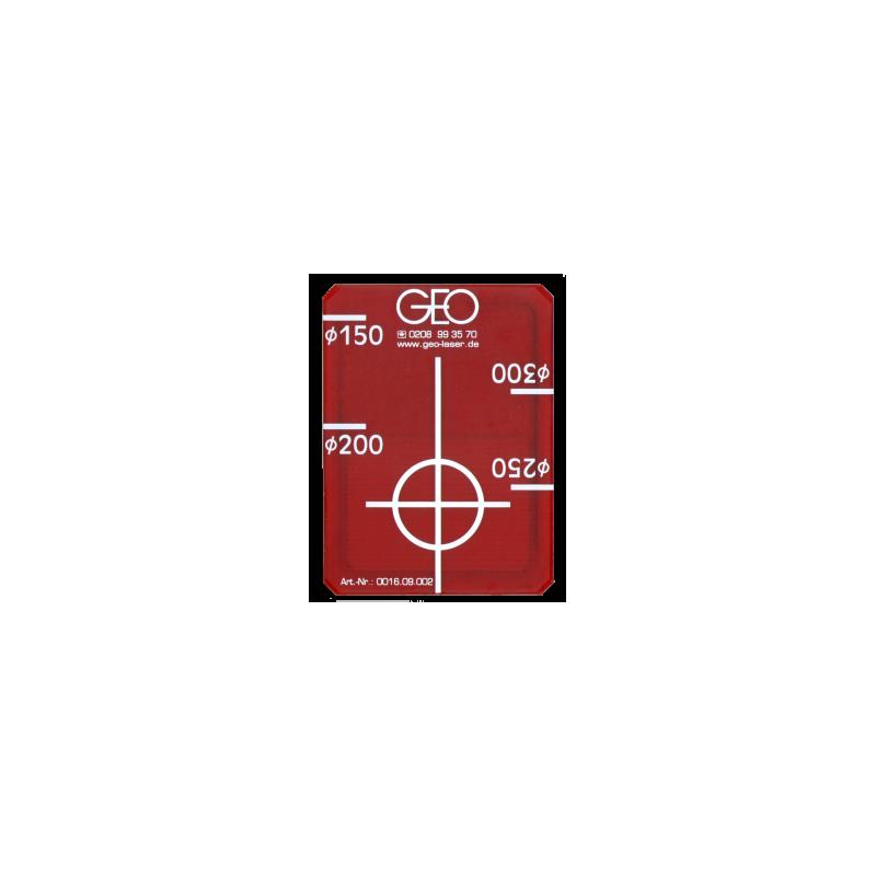 Cible Target DN 150 – 300 red FKL pour cible univ laser de canalisation