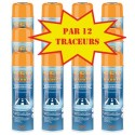 Carton de 12 Traceurs de chantier GEO MARKER TRACC 500ml orange fluo