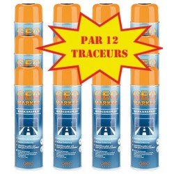 Carton de 12 Traceurs de chantier GEO MARKER TRACC 500ml orange fluo