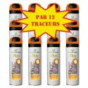 Carton de 12 Traceurs de chantier FLUO TP Orange Soppec