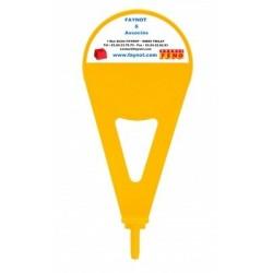 Repère de lotissement jaune pour borne H 315 mm 302-047