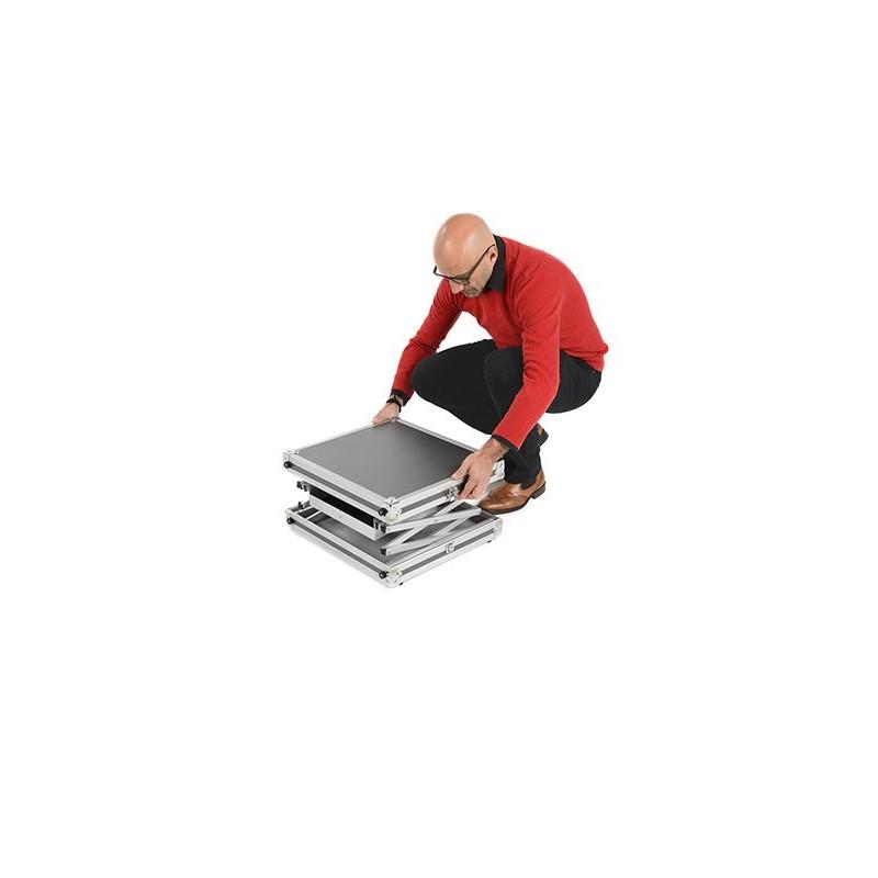 Valise convertible en table de travail QUIFFICE 510 x 455 x 115 mm, NOIR