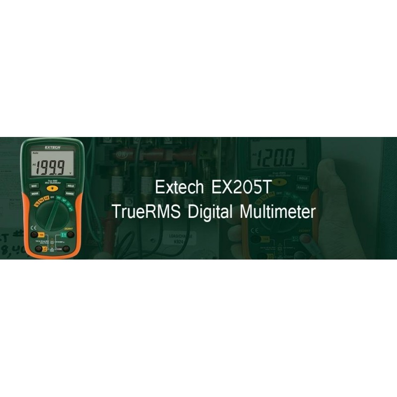 Multimètre digital Extech EX205T