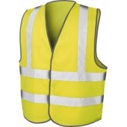 Gilet signal Baudrier jaune double ceinture rétroréfléchissantes T 4 XL