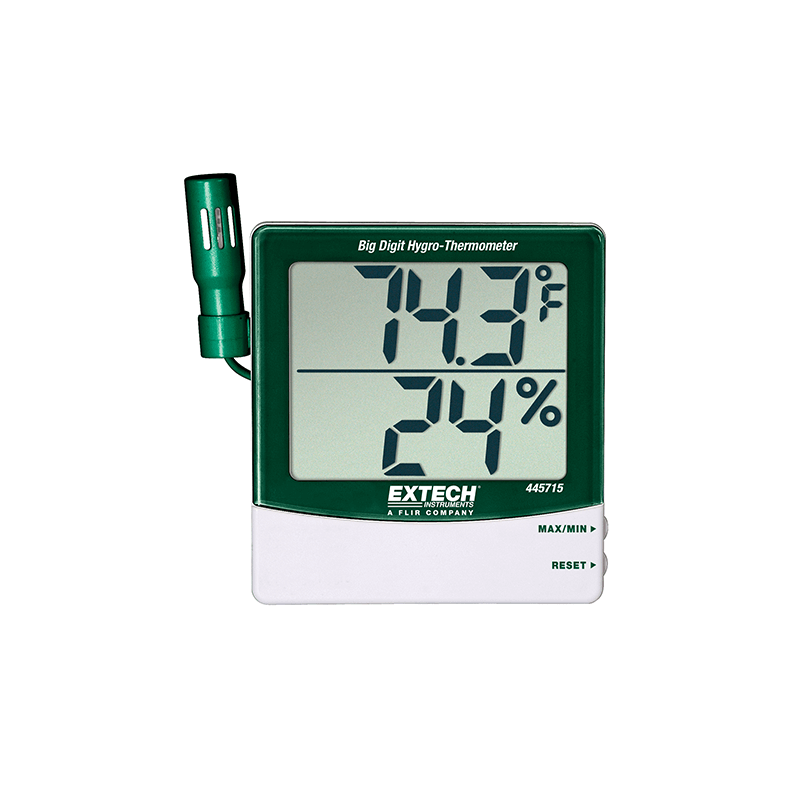Thermomètre-Hygromètre à grands chiffres REF 445715 EXTECH