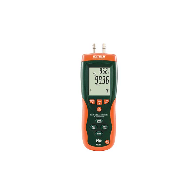 Anémomètre à tube de Pitot + Manomètre différentiel HD350