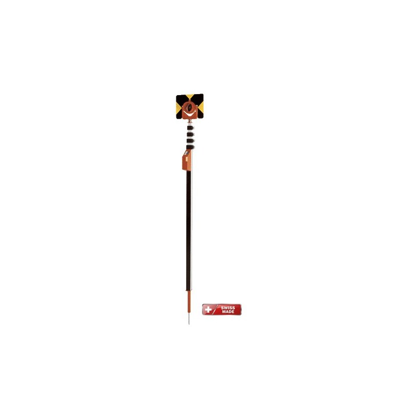 Canne porte-prisme 5m mEssfix-S pour LEICA 687111+05353