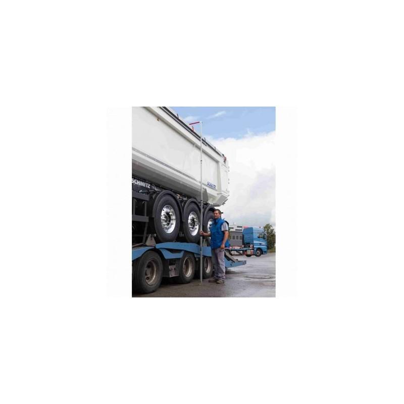 Mire Telemat 5m avec crochet dépliable ALIMÈTRE pour camions