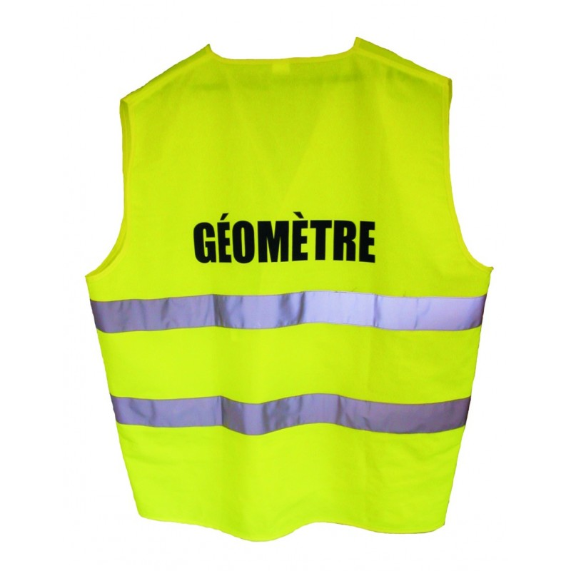 Gilet signalisation 2 bandes GEOMETRE - Jaune - classe2 T XL