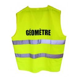 Gilet signalisation 2 bandes GEOMETRE - Jaune - classe2 T XXL