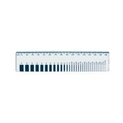 Latte de contrôle de fissure 0,1 - 7 mm, longueur 165 mm