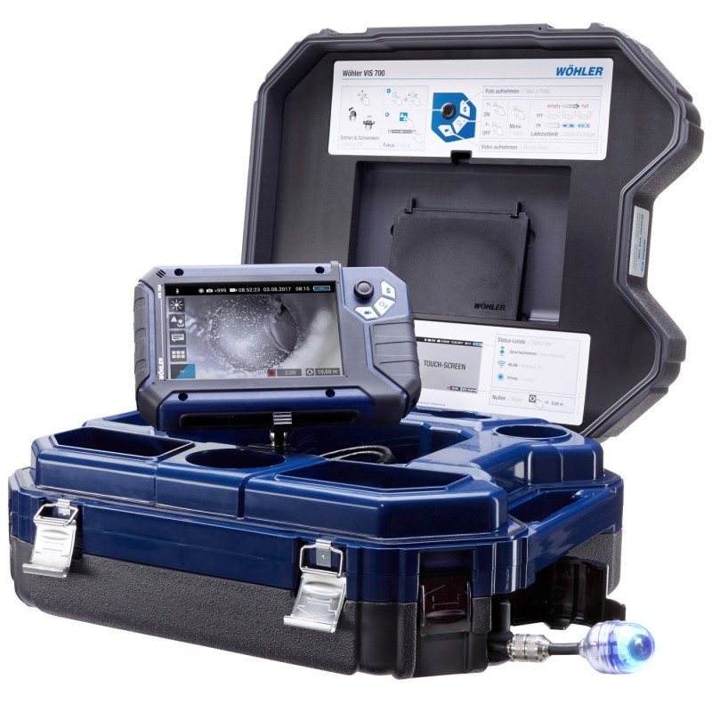 Caméra d'inspection Wöhler VIS 700 30 m tête interchangeable