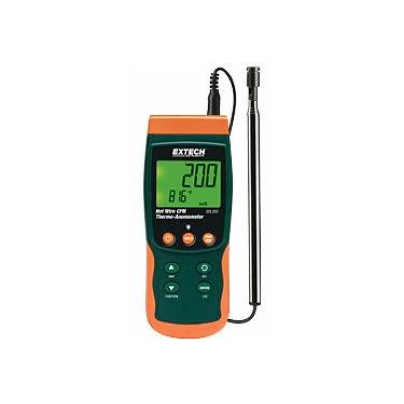 Thermo-anémomètre à fil chaud avec enregistreur de données SDL350