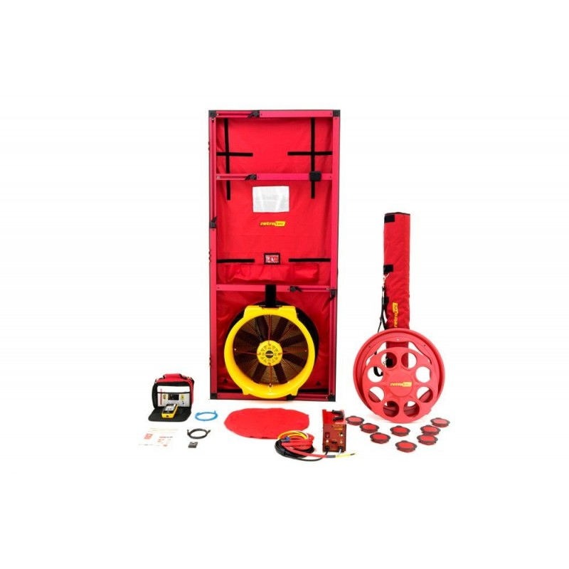 BLOWER DOOR RETROTEC EU6110 - 1x FAN6000 + DM32WIFI + Porte large
