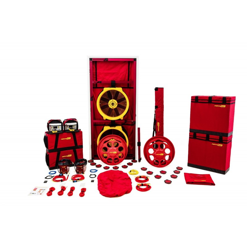 BLOWER DOOR RETROTEC EU6210 - 2x FAN6000 + DM32WIFI + Porte large