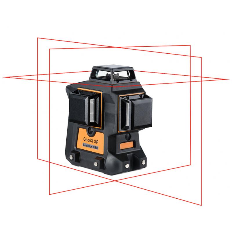 Laser Geo6X-SP 3x360° Rouge
