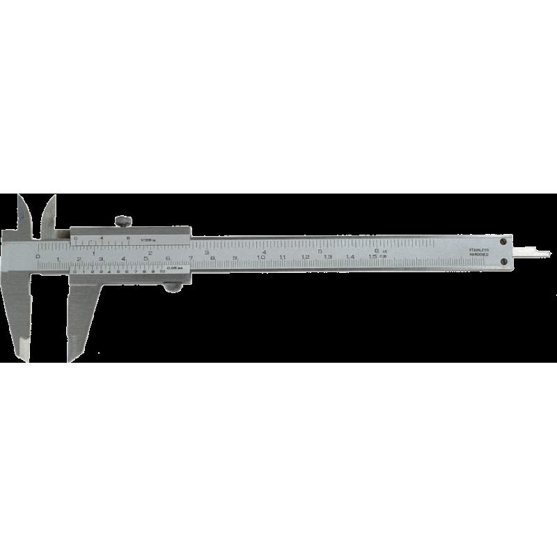 Pieds à coulisse mécanique de précission avec vise de serrage 150 mm