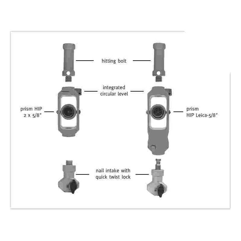 Mini-prisme HIT pour implantation chaise type LEICA contante -17mm