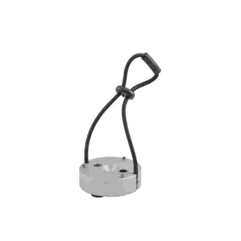 Base pour trépied avec tampon en caoutchouc aluminium Ø70 mm