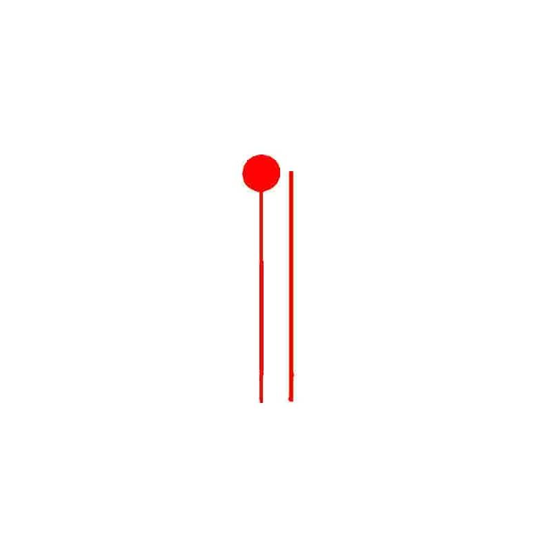 Tube de Jalonnette - rouge - L-700 pour borne FENO