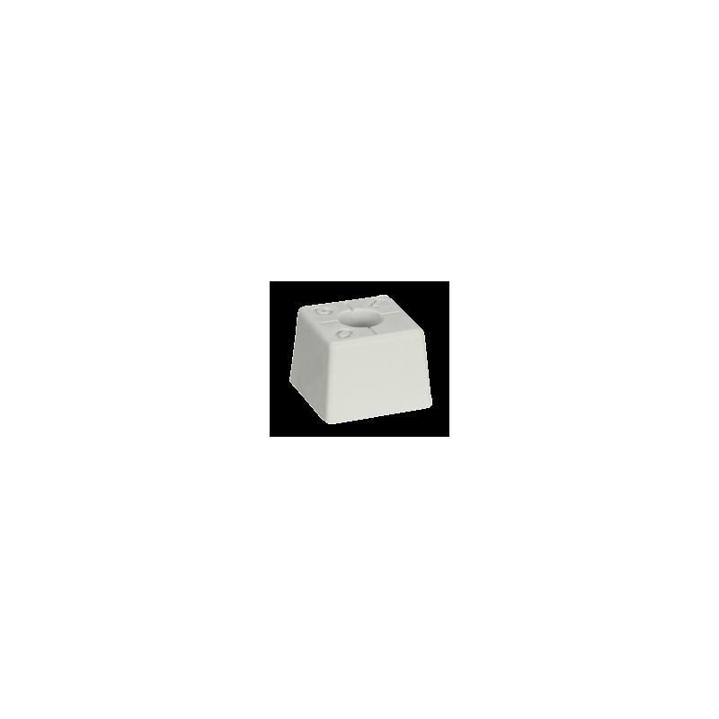 PACK 10 bornes polyroc standard Blanc + amarres de 350 mm FENO