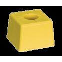 Pack 10 bornes polyroc standard jaune + amarres de 500 mm FENO