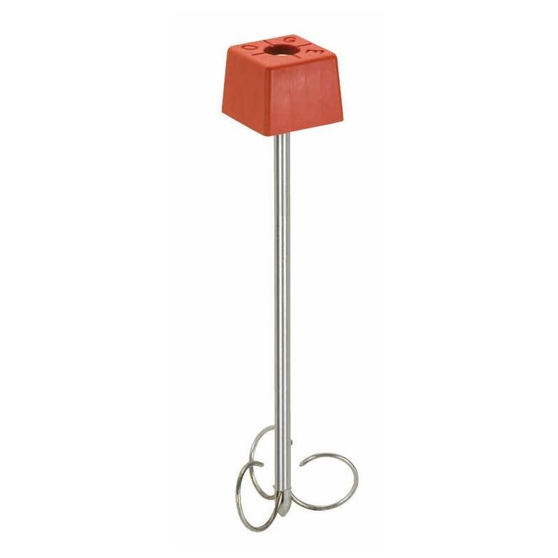 Pack 10 bornes polyroc standard rouge + amarres de 500 mm FENO