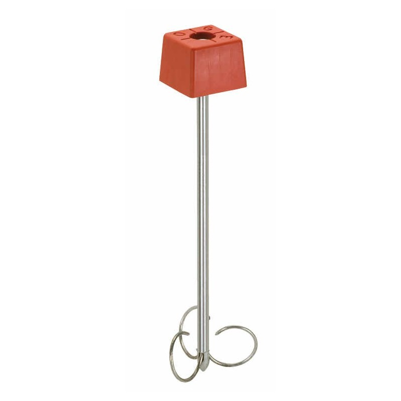 PACK 10 bornes polyroc standard rouge + amarres de 600 mm FENO