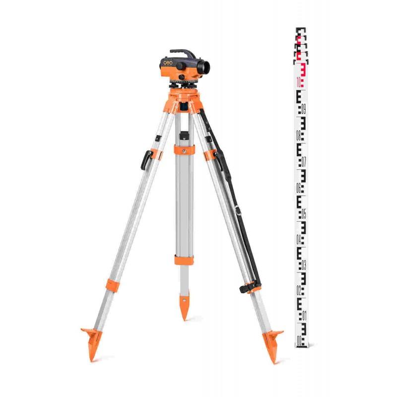 Pack Niveau optique GFN1 + trépied Builders +Mire 5m