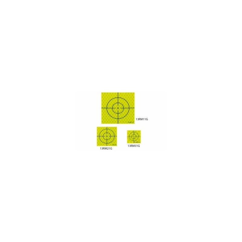 Cible Prisme JAUNE (Reflective sheet target) 60x60 mm 10 pièces