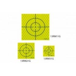 Cible Prisme JAUNE (Reflective sheet target) 40x40 mm 20 pièces