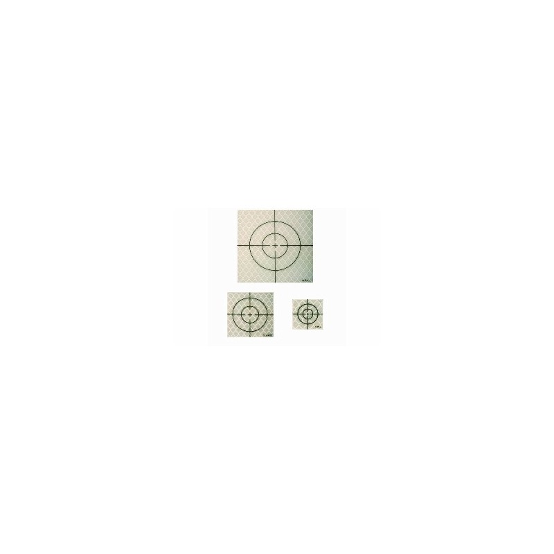 Cible Prisme GRISE (Reflective sheet target) 40x40 mm 20 pièces 13 RM21